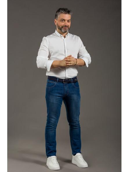 Pantalón vaquero elástico 5 bolsillos
