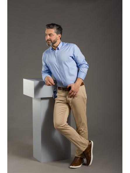 Pantalón chino de algodón elástico de caballero